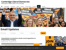 Tablet Preview of cambridgelibdems.org.uk